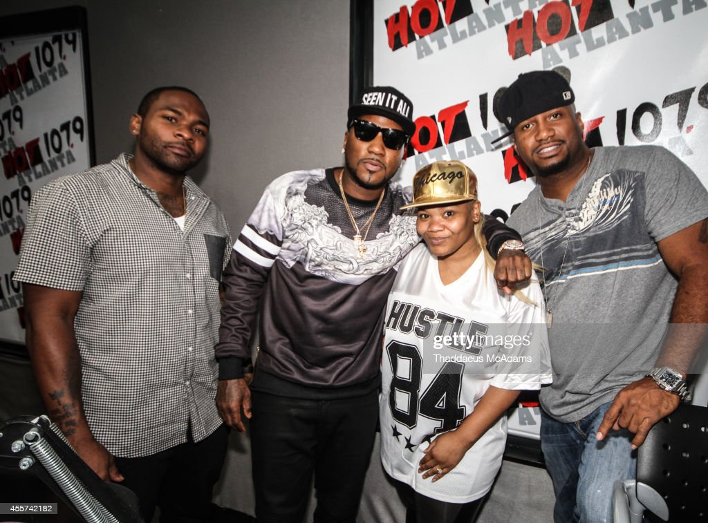 Mister Smith Young Jeezy Mz Shyneka and Emperor Searcy at Hot 1079 on September 5 2014 in Atlanta Georgia