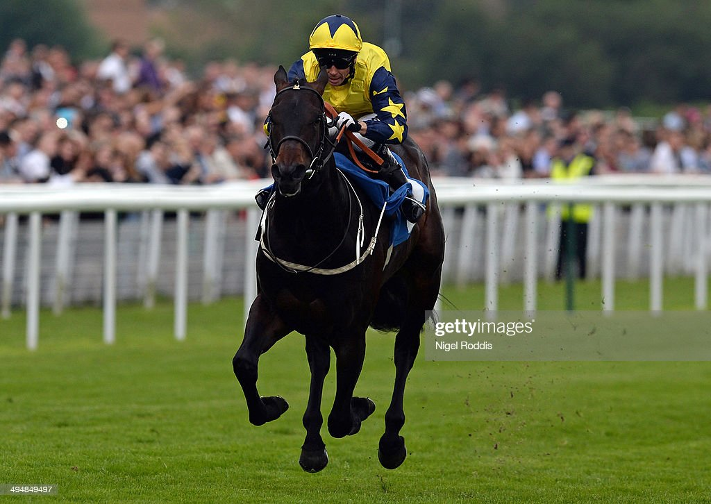 Mister Universe ridden by Graham Lee wins The Yorkshire Regiment EBF Stallions Median Auction Maiden Stakes at York on May 31 2014 in York England
