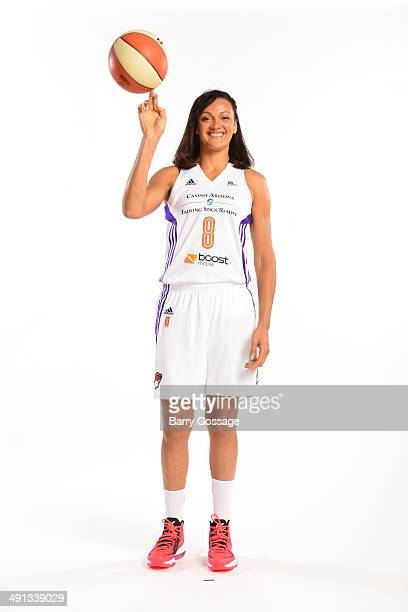 Mistie Bass of the Phoenix Mercury poses for a photo during the Phoenix Mercury Media Day on May 13 2014 at US Airways Center in Phoenix Arizona NOTE...
