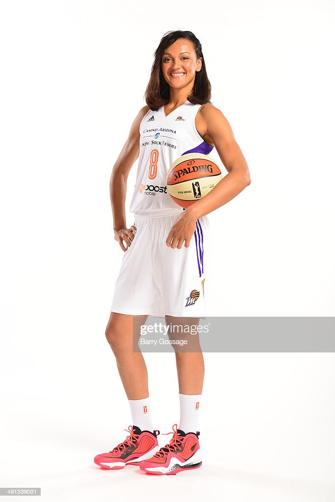 Mistie Bass #8 of the Phoenix Mercury poses for a photo during the Phoenix Mercury Media Day on May 13, 2014 at US Airways Center in Phoenix, Arizona.