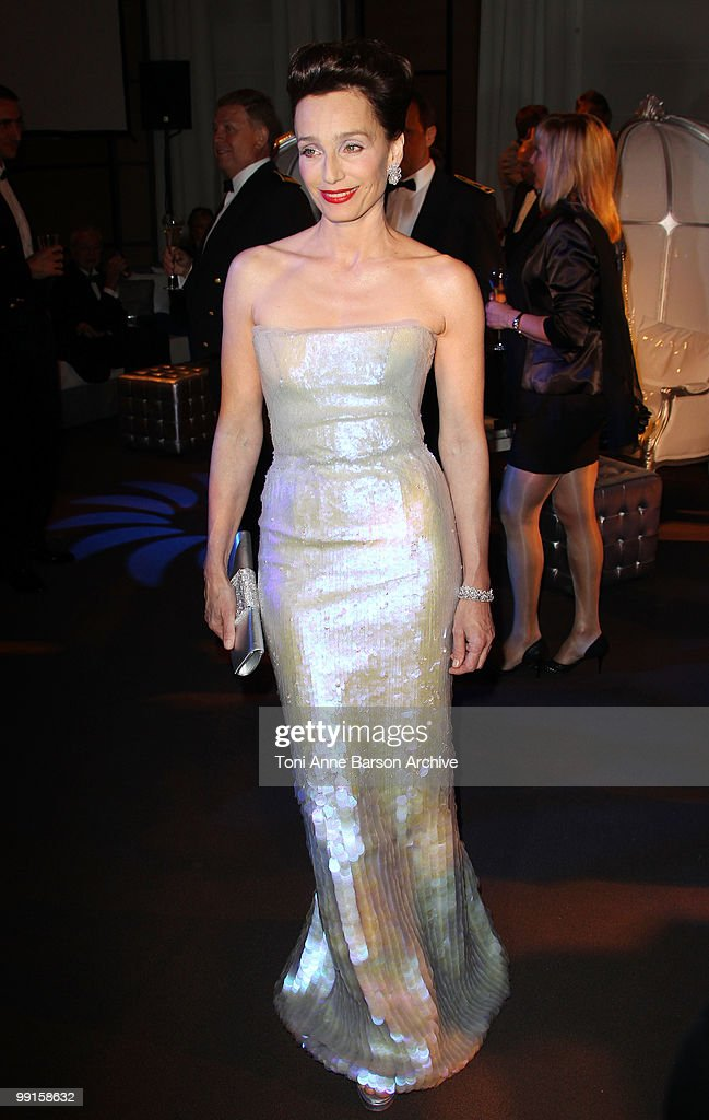 Mistress of Ceremonies Kristin Scott Thomas attends the Opening Night Dinner at the Hotel Majestic during the 63rd Annual International Cannes Film Festival on May 12, 2010 in Cannes, France.