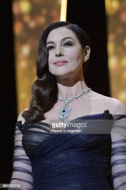 Mistress Of Ceremonies Monica Bellucci during the Opening Ceremony of the 70th annual Cannes Film Festival at Palais des Festivals on May 17 2017 in...