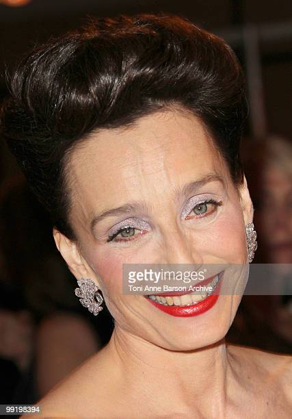 Mistress of Ceremony Kristin Scott Thomas attends the Opening Night Dinner at the Hotel Majestic during the 63rd Annual International Cannes Film...