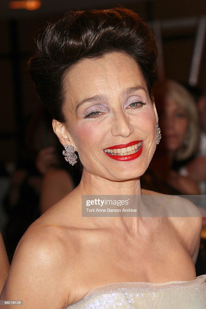 Mistress of Ceremony Kristin Scott Thomas attends the Opening Night Dinner at the Hotel Majestic during the 63rd Annual International Cannes Film Festival on May 12, 2010 in Cannes, France.
