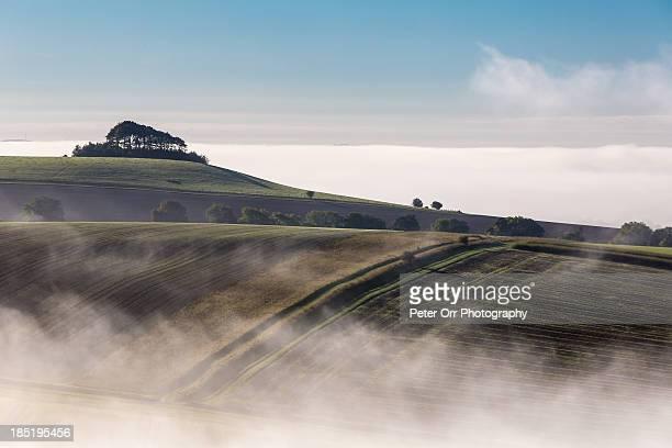 Mists around Woodborough HIll