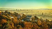 Misty Christchurch morning
