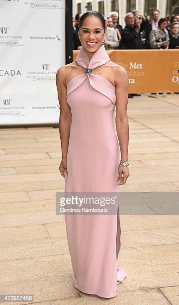 Misty Copeland attends the American Ballet Theatre's 75th Anniversary Diamond Jubilee Spring Gala at The Metropolitan Opera House on May 18 2015 in...