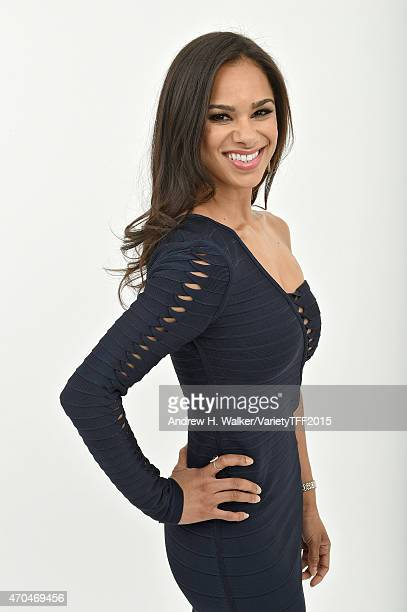 Misty Copeland from 'A Ballerina's Tale' appears at the 2015 Tribeca Film Festival Getty Images Studio on April 19 2015 in New York City