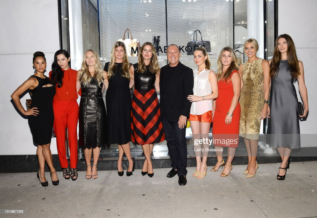Misty Copeland, Tamara Lowe, Jessi Adele, Asia Baker, Claiborne Swanson Frank, Michael Kors, <a gi-track='captionPersonalityLinkClicked' href=/galleries/search?phrase=Amanda+Hearst&family=editorial&specificpeople=209166 ng-click='$event.stopPropagation()'>Amanda Hearst</a>, Rachel Lewis, Genevieve Bahrenburg, and Michele Ouellet attend Kors Collaborations: Claiborne Swanson Frank on September 13, 2012 in New York City.
