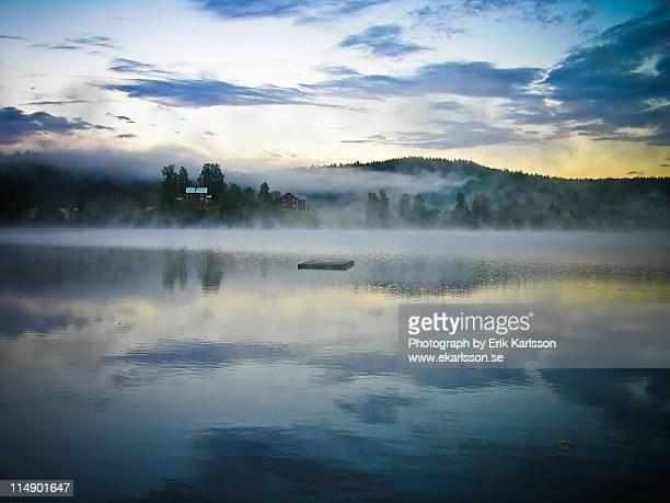 Misty lake in Sweden