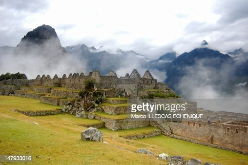 Misty Machu Picchu : Stock Photo