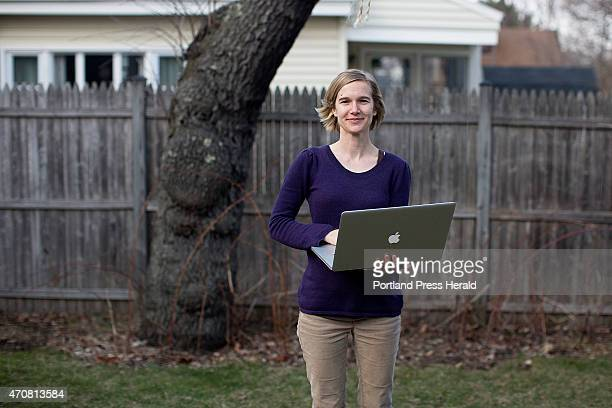 Misty McLaughlin was photographed in her back yard at her home on Wednesday April 22 2015 McLaughlin is a nonprofit consultant and user experience...