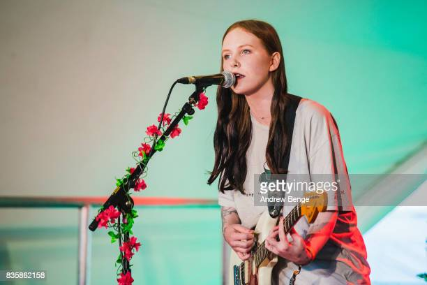 Misty Miller of Bad Parents performs on the Rising stage during day 4 at Green Man Festival at Brecon Beacons on August 20 2017 in Brecon Wales