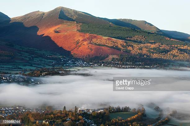 Misty morning at Keswick, the Lake District, Cumbria, England