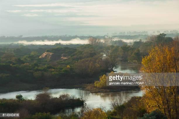 Misty morning during autumn