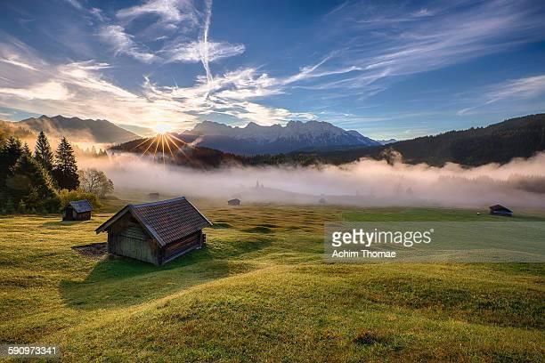 Misty morning in Bavaria