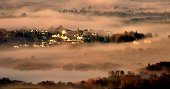 Mist over Keswick in the English Lake District.