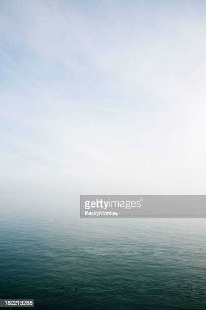 Misty Sea Horizon Background