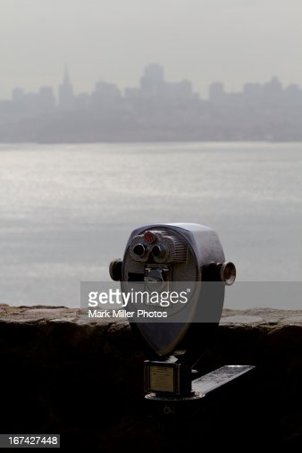 Misty view of San Francisco Bay and Skyline : Foto stock