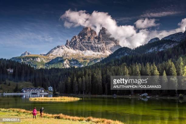 Misurina lake , Lake of european alps , dolomites , Italy