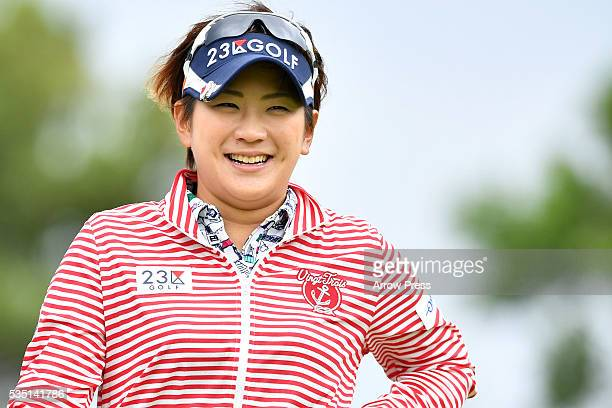Misuzu Narita of Japan smiles during the Final round of the Resorttrust Ladies at the Grandee Naruto Golf Club XIV on May 29 2016 in Naruto Japan