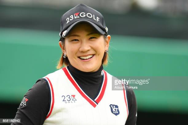 Misuzu Narita of Japan smiles during the first round of Stanley Ladies Golf Tournament at the Tomei Country Club on October 6 2017 in Susono Shizuoka...