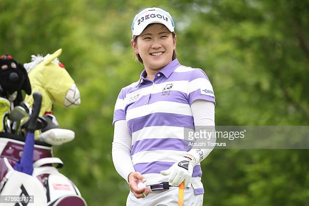 Misuzu Narita of Japan smiles during the first round of the Yonex Ladies Golf Tournament 2015 at the Yonex Country Club on June 5 2015 in Nagaoka...