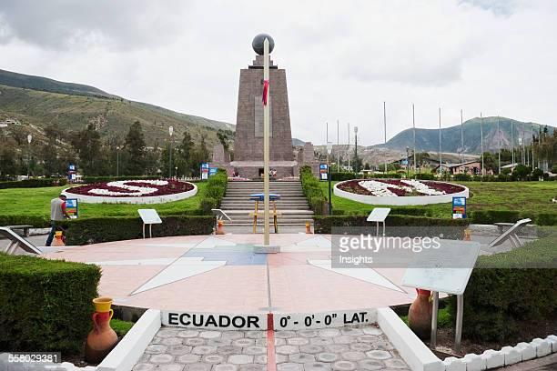 Mitad Del Mundo Monument Near The Equator Pichincha Ecuador
