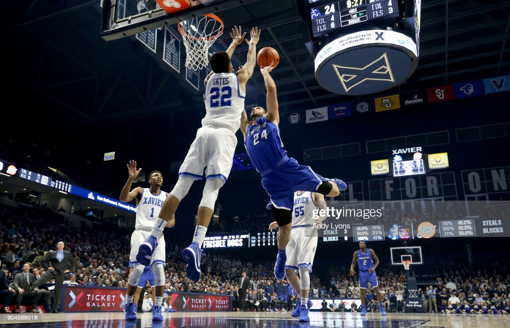 Mitch Ballock #24 of the Creighton Bluejays shoots the ball against the Xavier Musketeers at Cintas Center on January 13, 2018 in Cincinnati, Ohio.