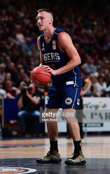 Mitch Creek of Adelaide during the round seven NBL match between Adelaide 36ers and the Sydney Kings at Titanium Security Arena on November 18 2017...