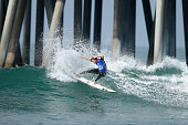 Mitch Crews of Australia surfs during his Round 4 Heat at the Vans US Open of Surfing on August 1 2015 in Huntington Beach California