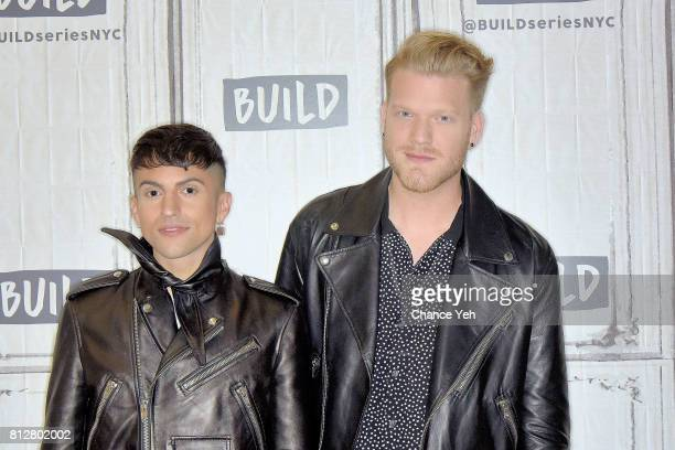 Mitch Grassi and Scott Hoying of Superfruit attend Build series to discuss their debut album 'Future Friends' at Build Studio on July 11 2017 in New...