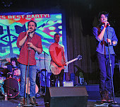 Mitch Jarvis and Dan Domenech performs at the 'Rock Of Ages' Broadway Cast Reunion Concert at Highline Ballroom on January 25 2016 in New York City