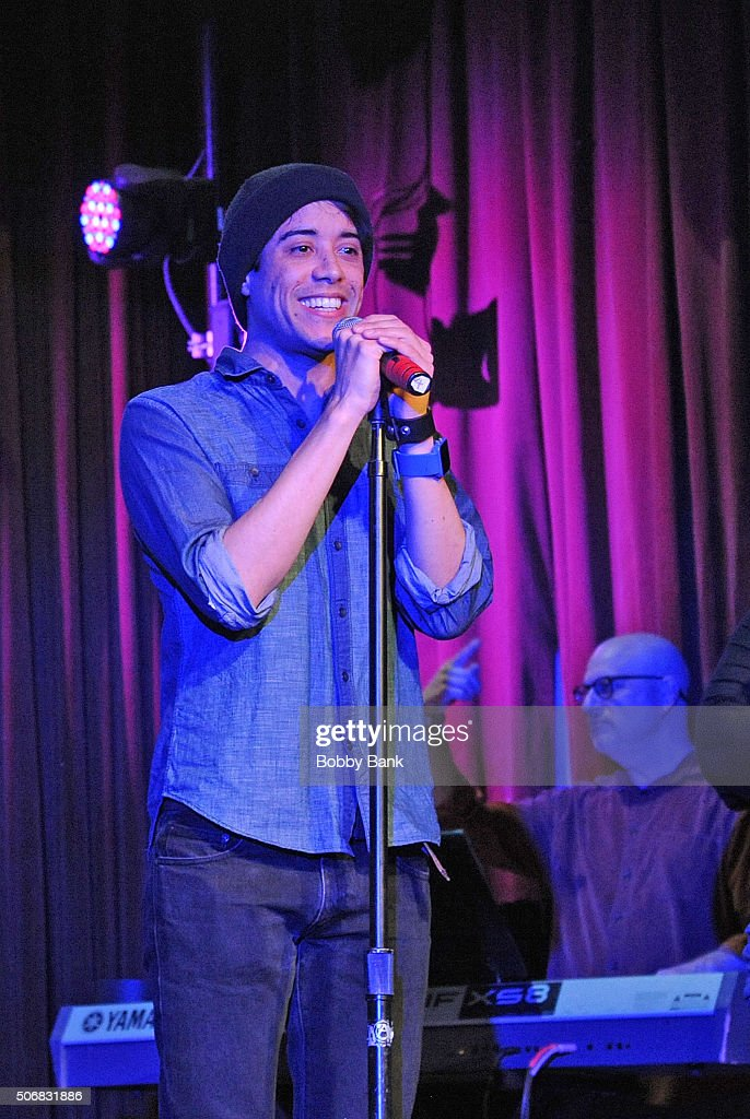 Mitch Jarvis performs at the 'Rock Of Ages' Broadway Cast Reunion Concert at Highline Ballroom on January 25 2016 in New York City