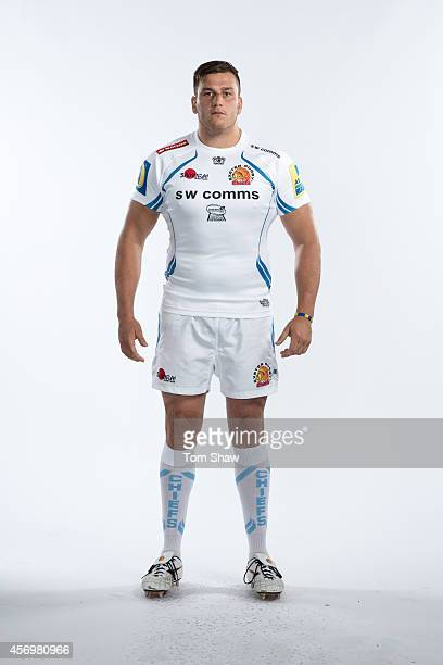 Mitch Lees of Exeter Chiefs poses for a picture during the BT Photo Shoot at Sandy Park on August 26 2014 in Exeter England