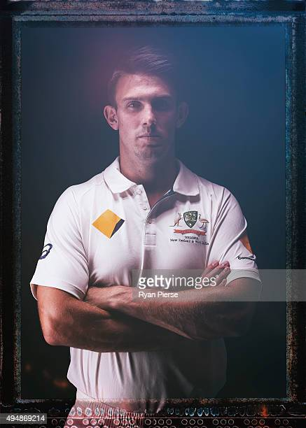 Mitch Marsh of Australia poses during an Australian Test Cricket Portrait Session on October 19 2015 in Sydney Australia