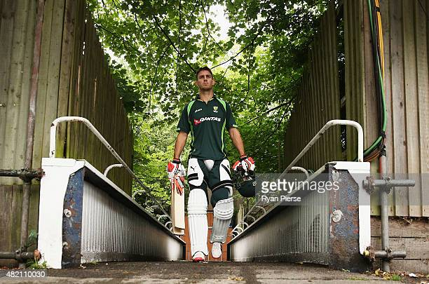 Mitch Marsh of Australia walks to the nets during a nets session ahead of the 3rd Investec Ashes Test match between England and Australia at...