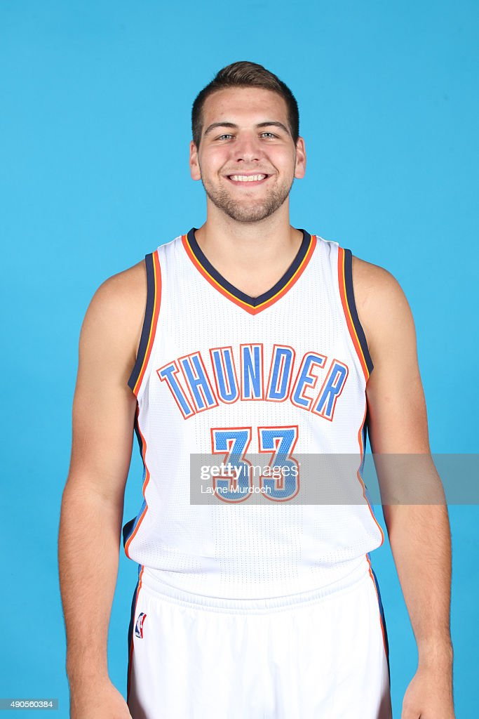 <a gi-track='captionPersonalityLinkClicked' href=/galleries/search?phrase=Mitch+McGary&family=editorial&specificpeople=7887132 ng-click='$event.stopPropagation()'>Mitch McGary</a> #33 of the Oklahoma City Thunder poses for a portrait during 2015 NBA Media Day on September 28, 2015 at the Thunder Events Center in Edmond, Oklahoma.
