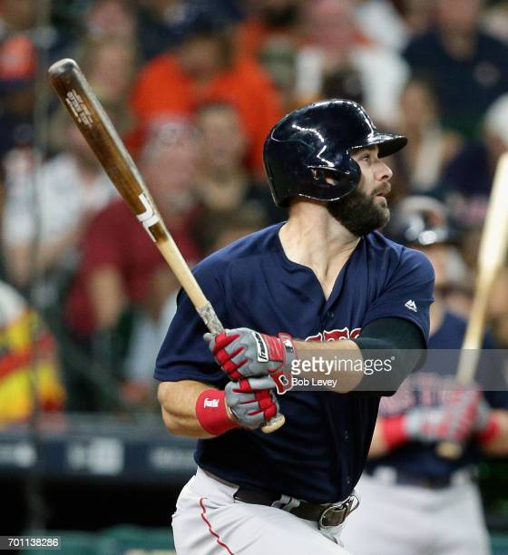Mitch Moreland of the Boston Red Sox against the Houston Astros at Minute Maid Park on June 16 2017 in Houston Texas