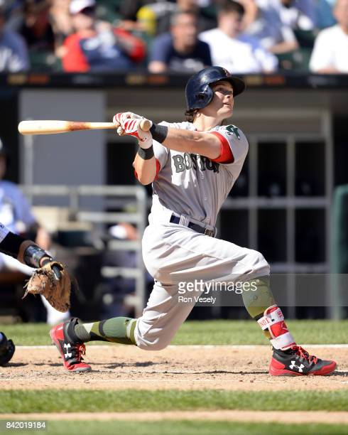 Mitch Moreland of the Boston Red Sox bats against the Chicago White Sox on May 29 2017 at Guaranteed Rate Field in Chicago Illinois