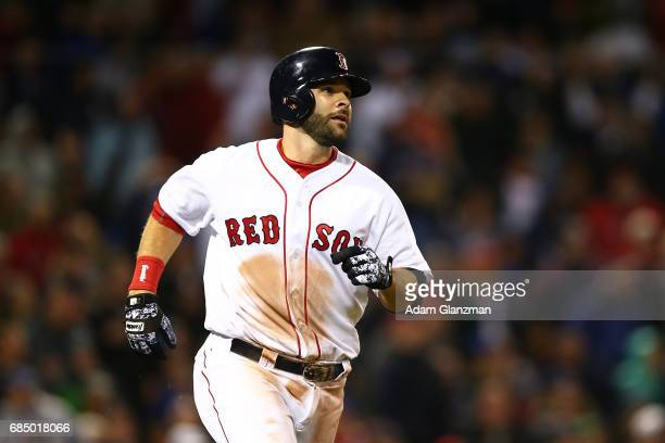 Mitch Moreland of the Boston Red Sox looks on during a game against the Chicago Cubs at Fenway Park on April 30 2017 in Boston Massachusetts