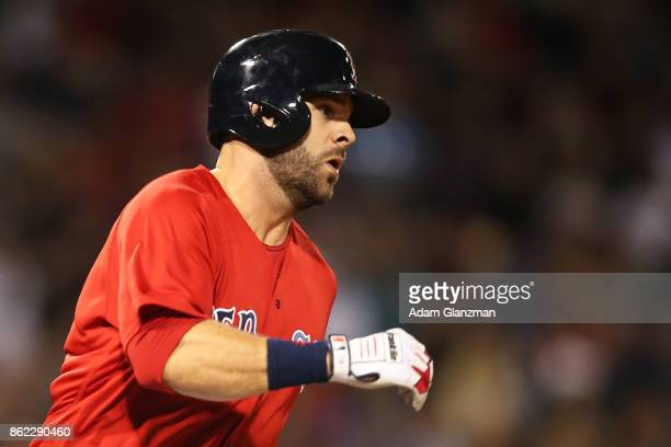 Mitch Moreland of the Boston Red Sox looks on during a game against the Houston Astros at Fenway Park on September 29 2017 in Boston Massachusetts