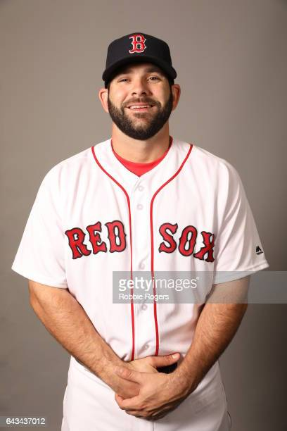 Mitch Moreland of the Boston Red Sox poses during Photo Day on Sunday February 19 2017 at JetBlue Park in Fort Myers Florida