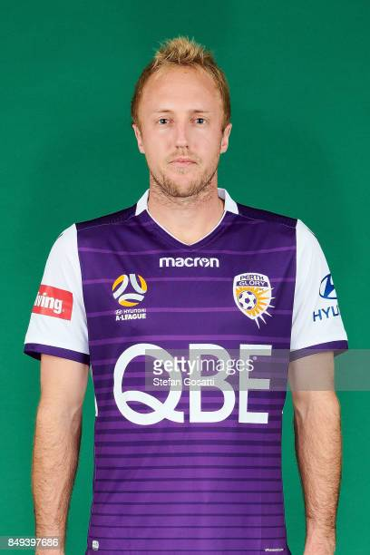 Mitch Nichols poses during the Perth Glory 2017/18 ALeague season headshots session on September 15 2017 in Perth Australia