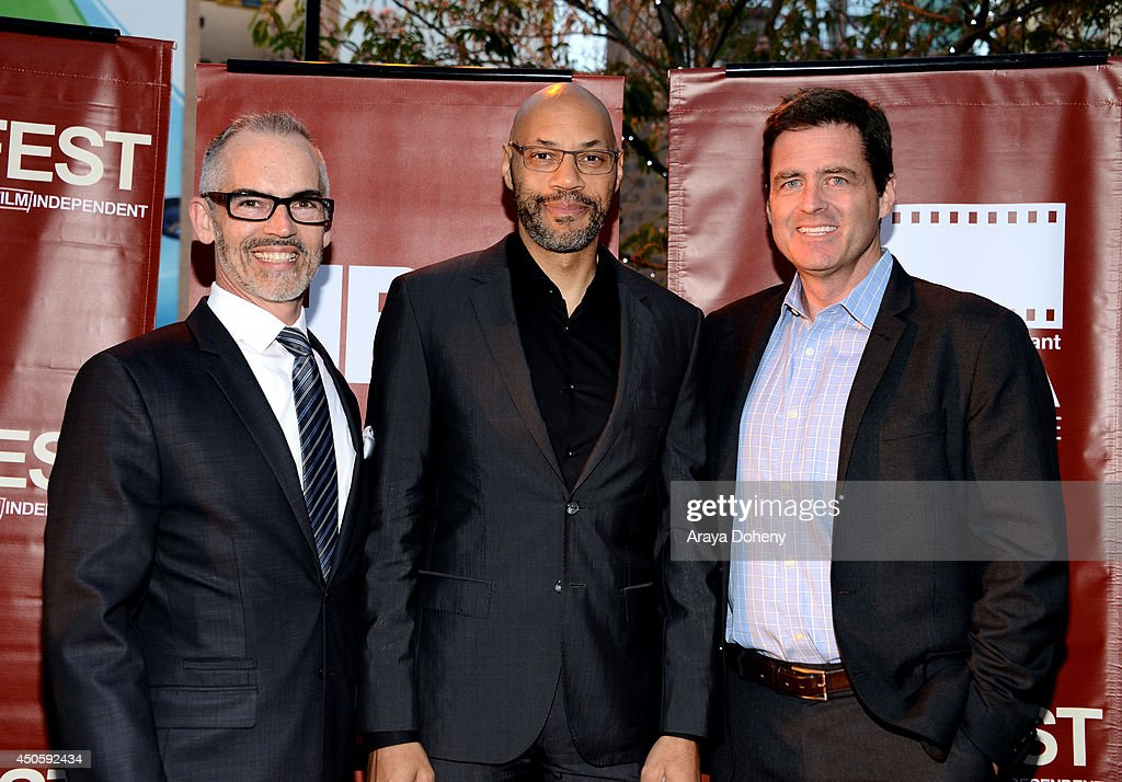 Mitch O'Farrell, Los Angeles City Council District 13, writer <a gi-track='captionPersonalityLinkClicked' href=/galleries/search?phrase=John+Ridley&family=editorial&specificpeople=2310489 ng-click='$event.stopPropagation()'>John Ridley</a> and President of Film Independent <a gi-track='captionPersonalityLinkClicked' href=/galleries/search?phrase=Josh+Welsh&family=editorial&specificpeople=5431194 ng-click='$event.stopPropagation()'>Josh Welsh</a> attend the Filmmaker Reception during the 2014 Los Angeles Film Festival at Club Nokia on June 13, 2014 in Los Angeles, California.