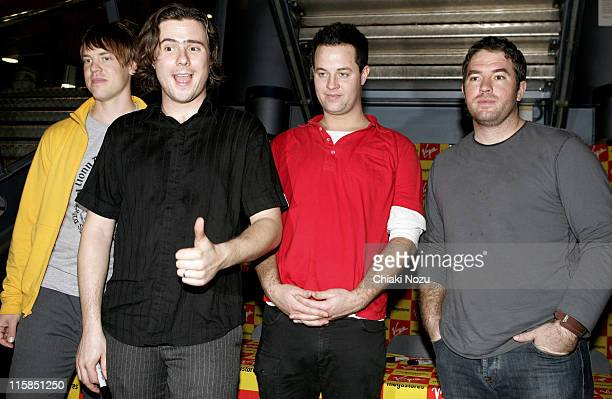 Mitch Porter Jim Adkins Tom Linton and Zach Lind of Jimmy Eat World