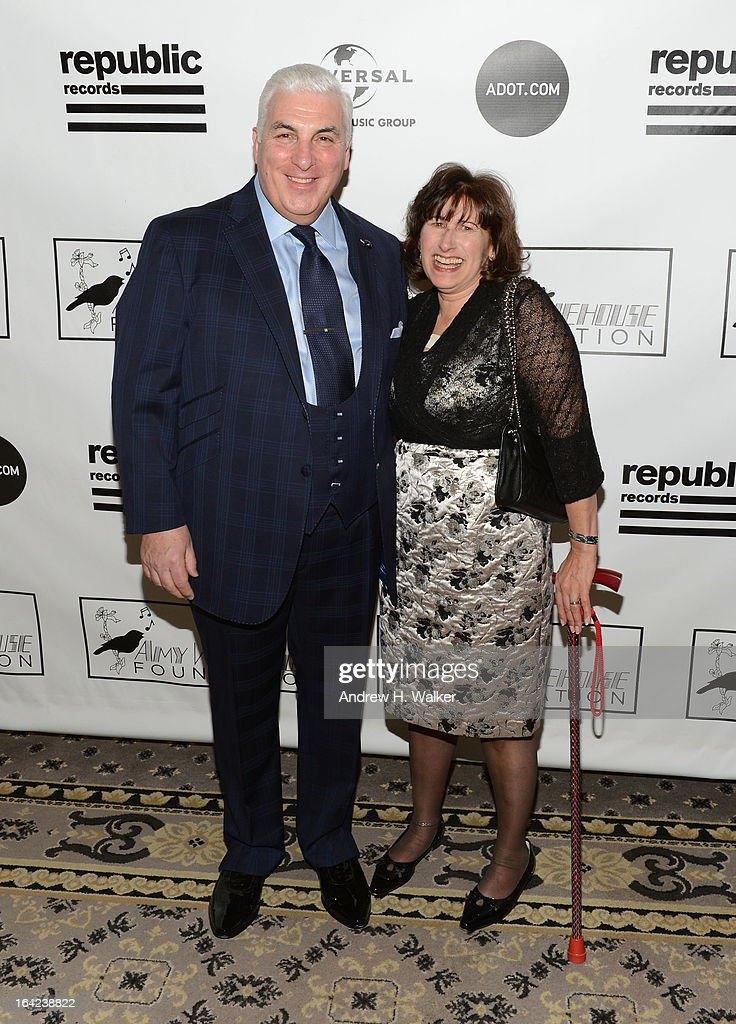 Mitch Winehouse (L) and Janis Winehouse Collins attend the 2013 Amy Winehouse Foundation Inspiration Awards and Gala at The Waldorf=Astoria on March 21, 2013 in New York City.