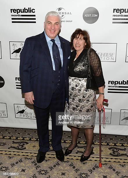 Mitch Winehouse and Janis Winehouse Collins attend the 2013 Amy Winehouse Foundation Inspiration Awards and Gala at The Waldorf=Astoria on March 21...