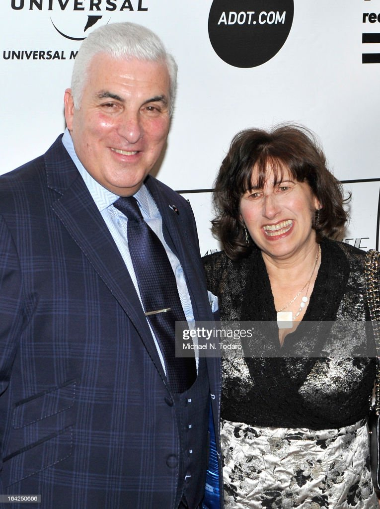 Mitch Winehouse and Janis Winehouse Collins attend the 2013 Amy Winehouse Foundation Inspiration Awards and Gala at The Waldorf=Astoria on March 21, 2013 in New York City.