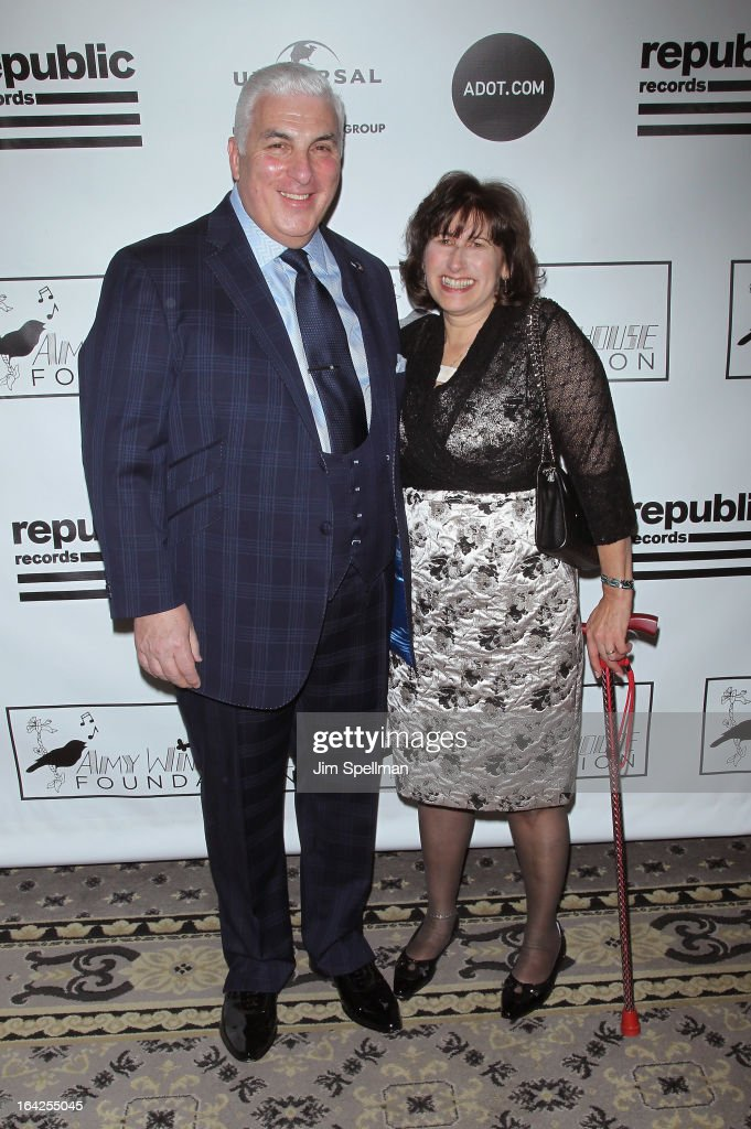 Mitch Winehouse (L) and Janis Winehouse Collins attends the 2013 Amy Winehouse Foundation Inspiration Awards and Gala at The Waldorf=Astoria on March 21, 2013 in New York City.